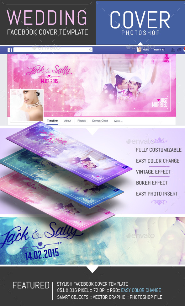 GraphicRiver Wedding Facebook Timeline Cover Template 10169663