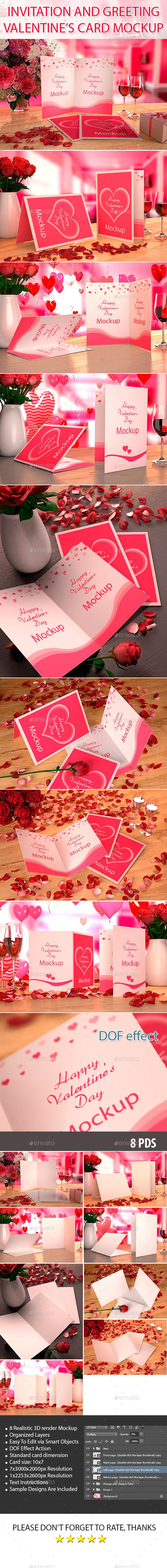 GraphicRiver Valentine s card Mockup 10169670