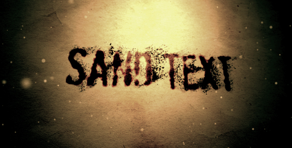 After Effects Project - VideoHive Sand text 128417
