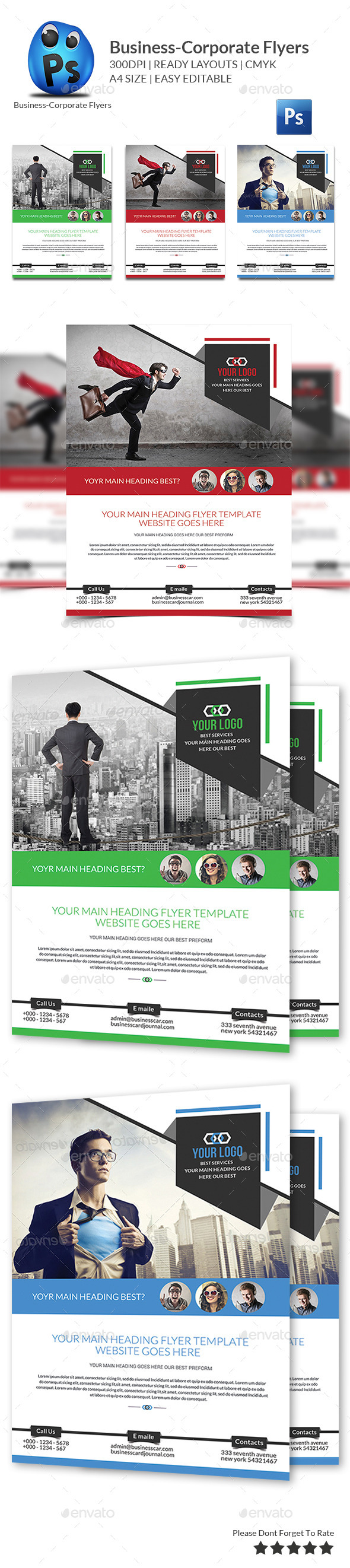 GraphicRiver Corporate Business Flyer Template 10169684