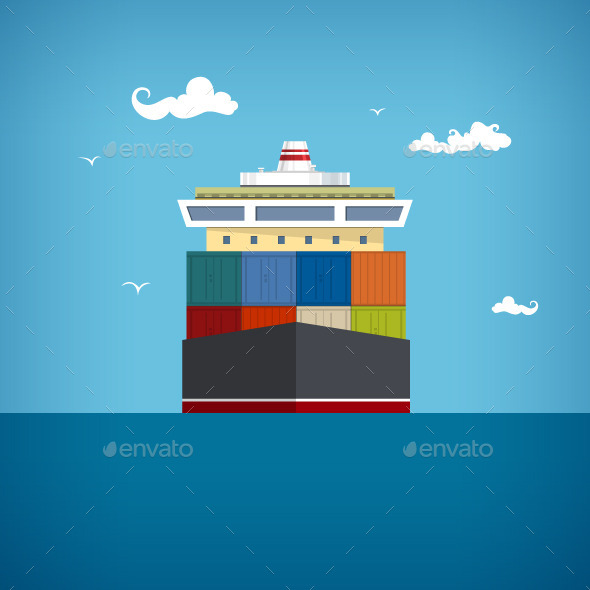 GraphicRiver Cargo Container Ship 10169696