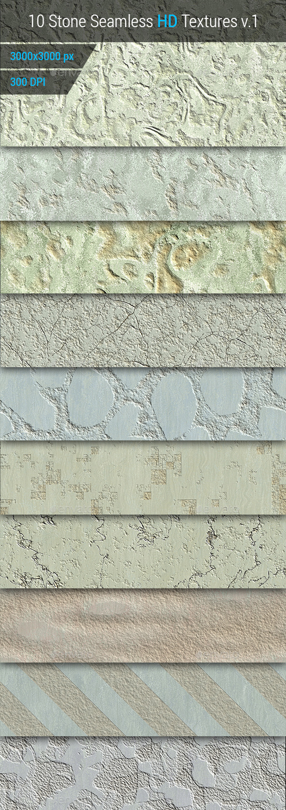GraphicRiver Stone Seamless and Tileable HD Textures Set 10169794