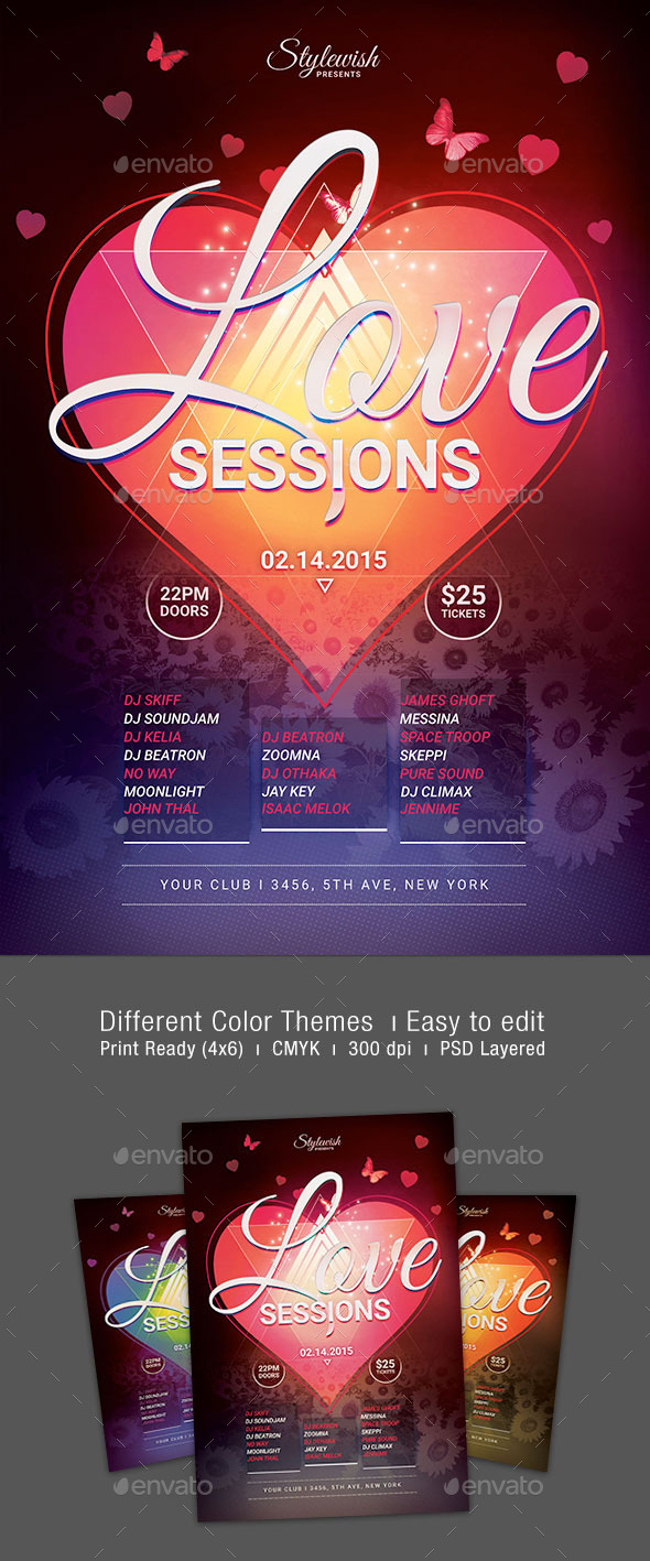 GraphicRiver Love Sessions Flyer 10169859