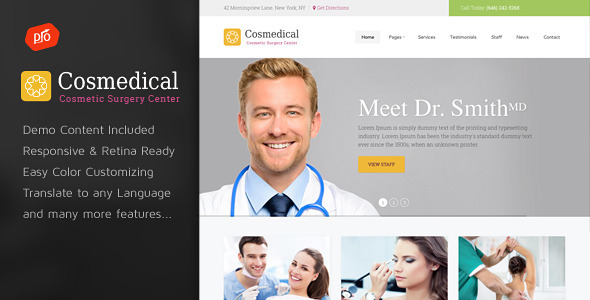 Cosmedical Health & Medical WordPress Theme