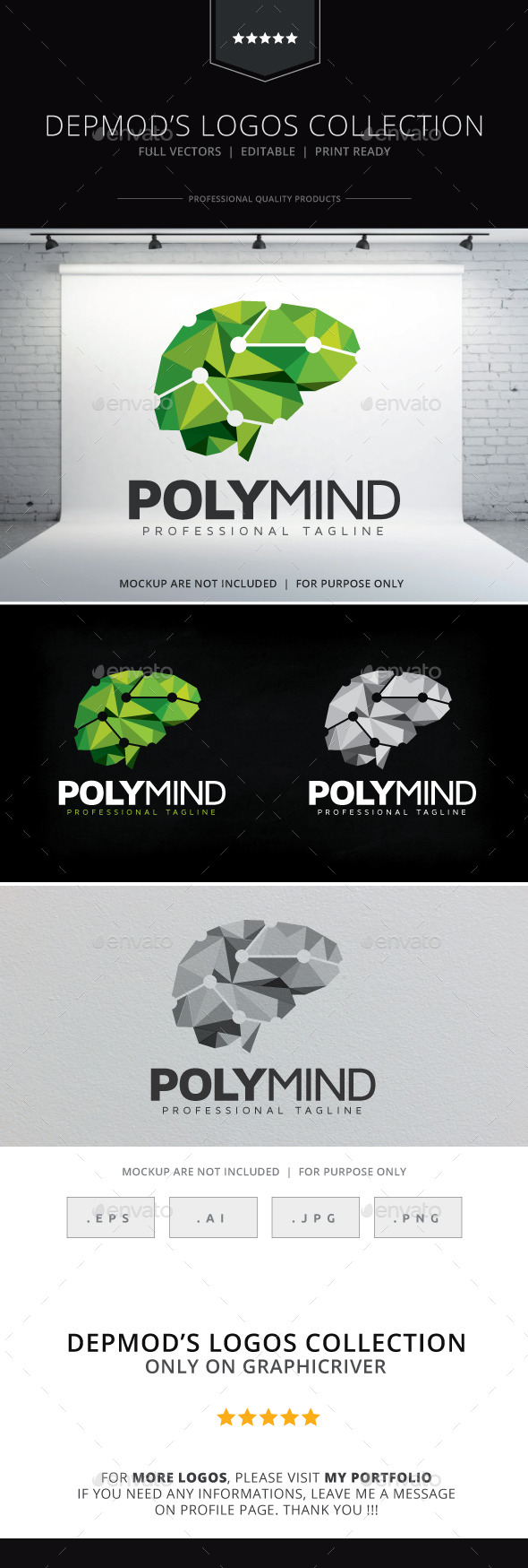 GraphicRiver Poly Mind Logo 10169963