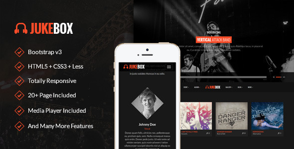ThemeForest Jukebox Responsive Music and Band Template 10169985