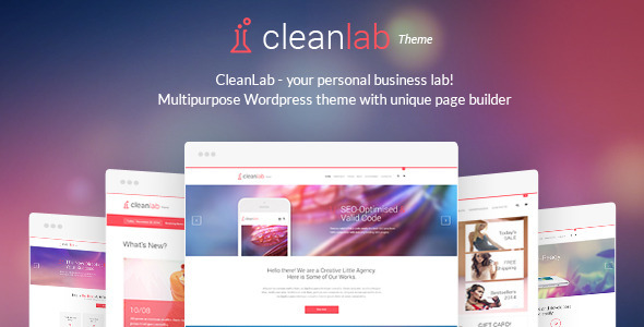 ThemeForest CleanLab Creative Multi-Purpose WordPress Theme 10049764