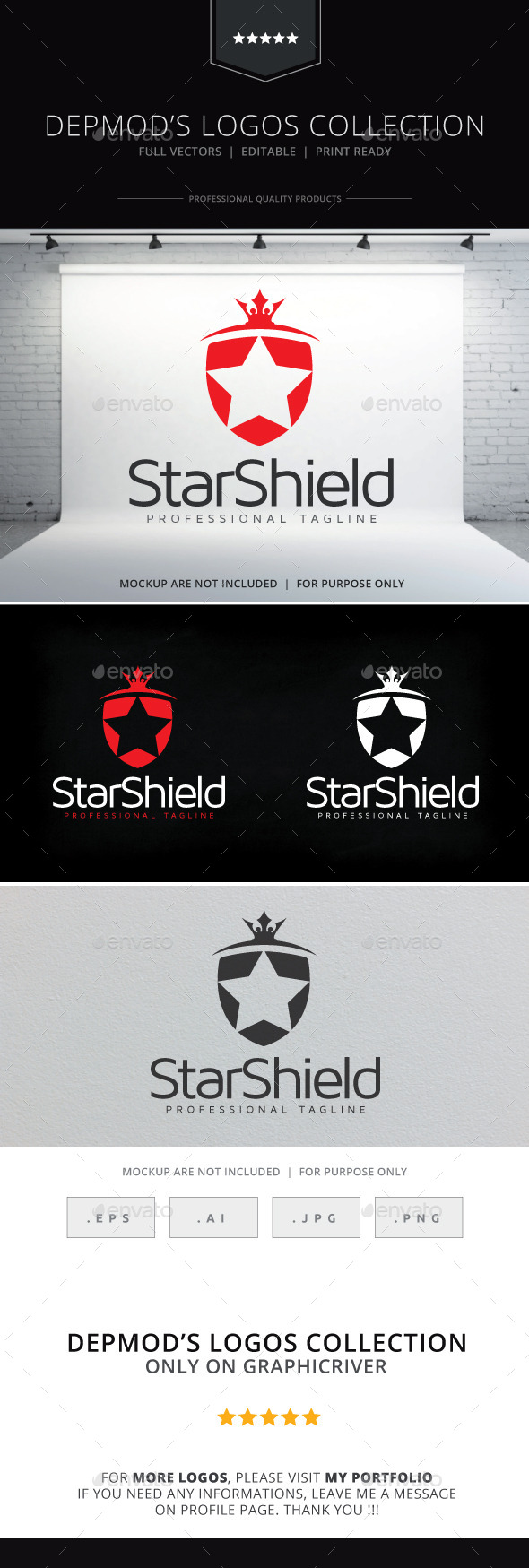 GraphicRiver Star Shield Logo 10170080