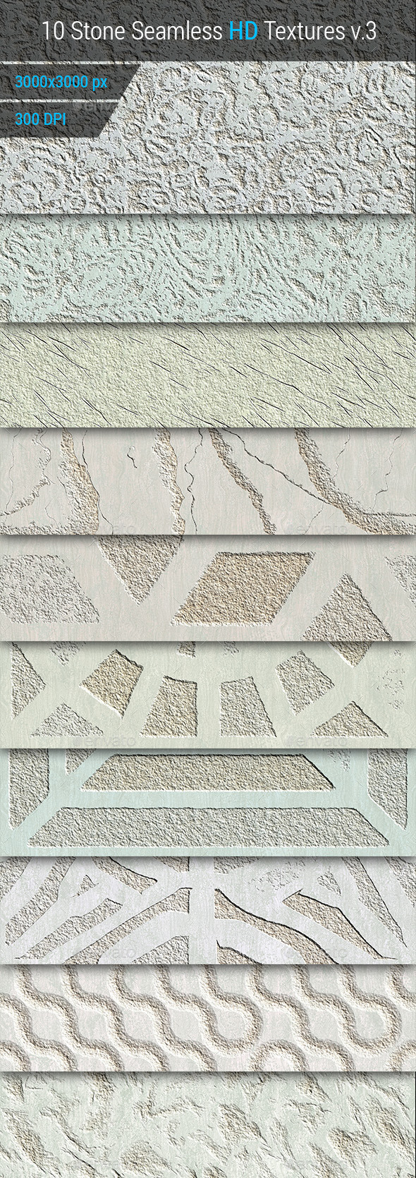 GraphicRiver Stone Seamless and Tileable HD Textures Set v.3 10170204