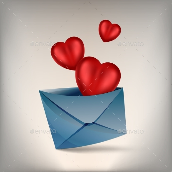 GraphicRiver Hearts and Envelope 10170672