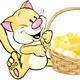 Cat and Mouse with Basket Full of Cheese - GraphicRiver Item for Sale
