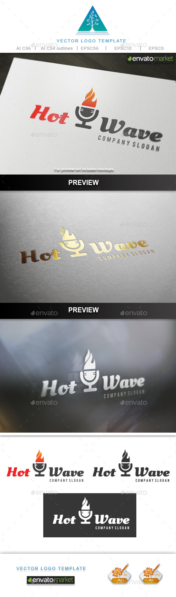 GraphicRiver Hot Wave Logo 10170722