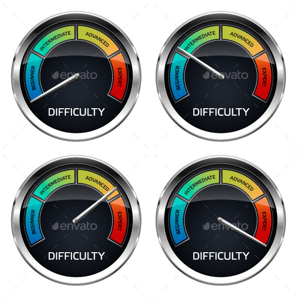 GraphicRiver Realistic Difficulty Dashboard 10170786