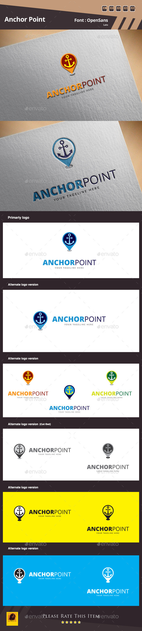 GraphicRiver Anchor Point Logo Template 10170800