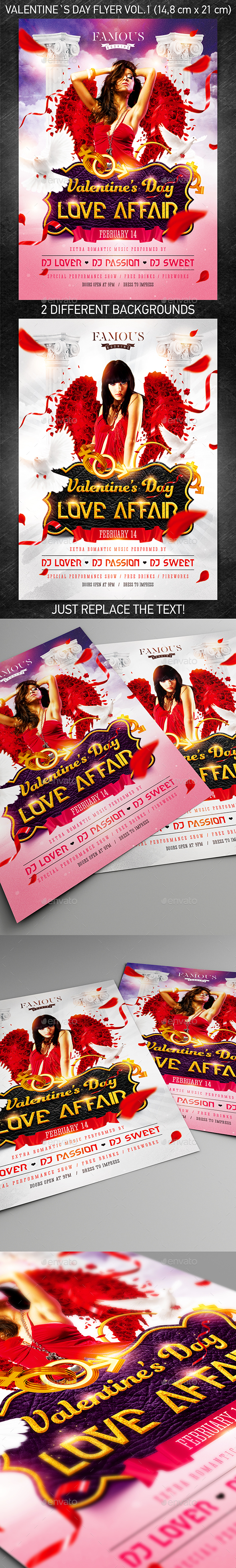 Valentine`s Day Party Flyer vol.1