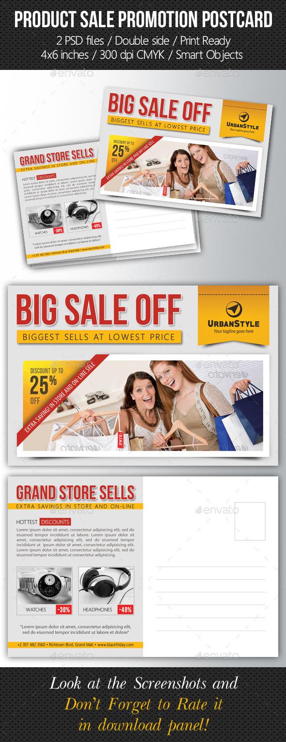 GraphicRiver Product Sale Promotion Postcard Template 10171146