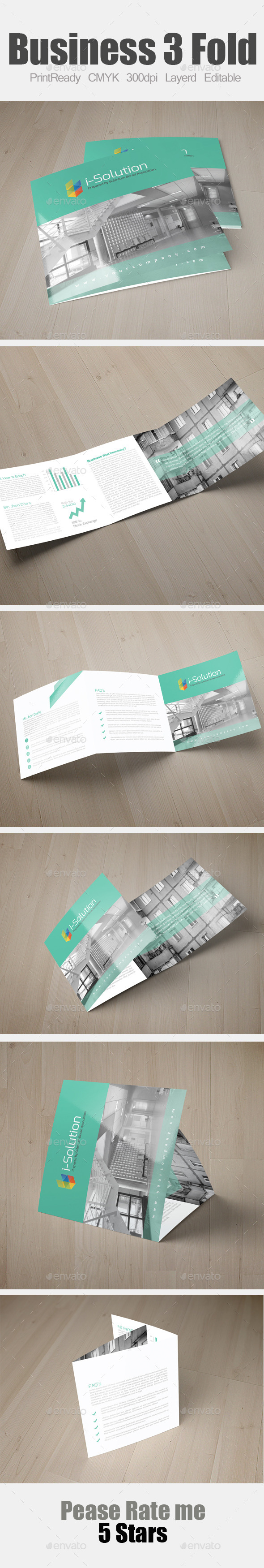GraphicRiver Multi Use Business Square Trifold 10171153
