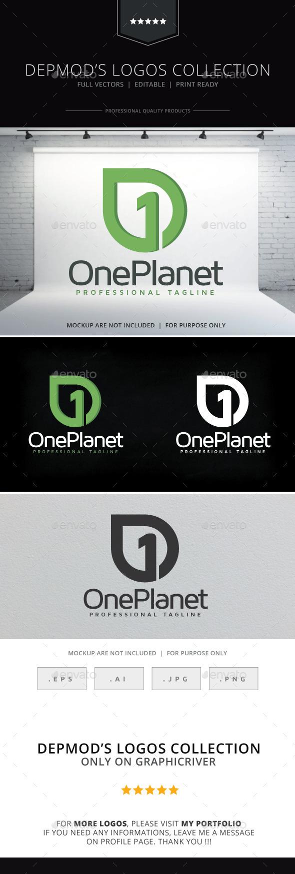 GraphicRiver One Planet Logo 10171193
