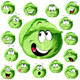 Cabbage Cartoon with Many Expressions - GraphicRiver Item for Sale