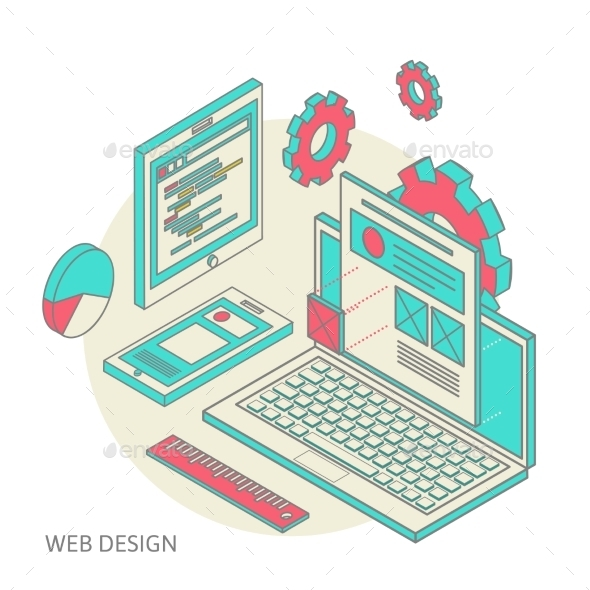 GraphicRiver Website Design Development Process 10171464