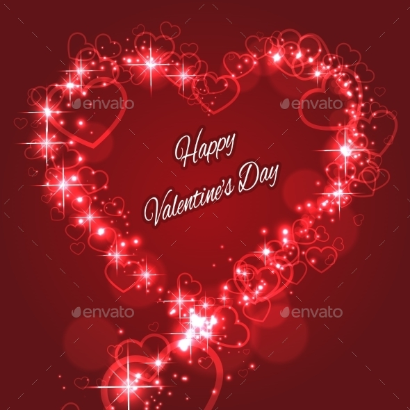 GraphicRiver Shape Valentine s Heart with Sparkles for Love 10171683