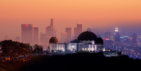Beautiful Sunset on Downtown Los Angeles