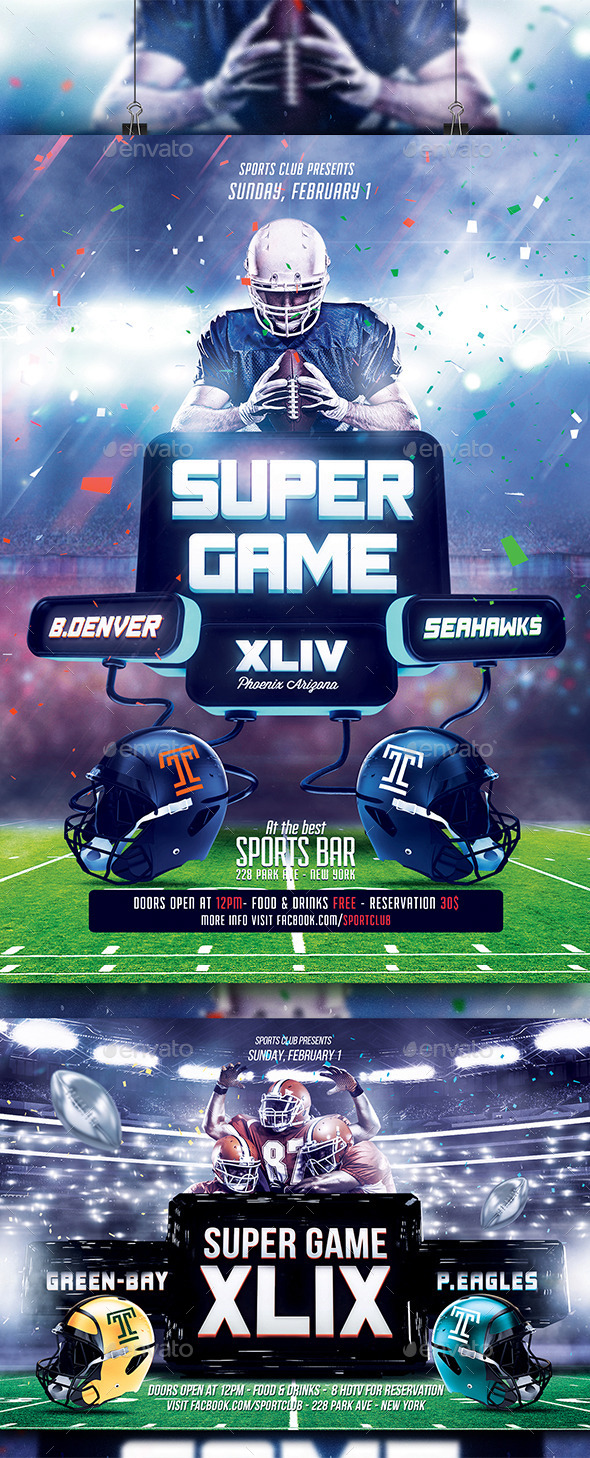 GraphicRiver FootBall Flyer Bundle 10130014