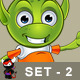 Pointy Eared Alien - Set 2 - GraphicRiver Item for Sale