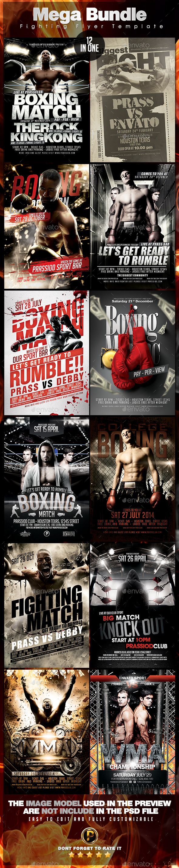 GraphicRiver Mega Bundle 12 In 1 Fighting Flyer Template 10172426
