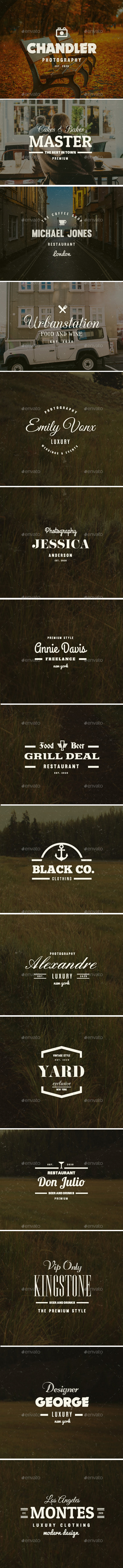 GraphicRiver 15 Vintage Logos Labels & Badges 10172716