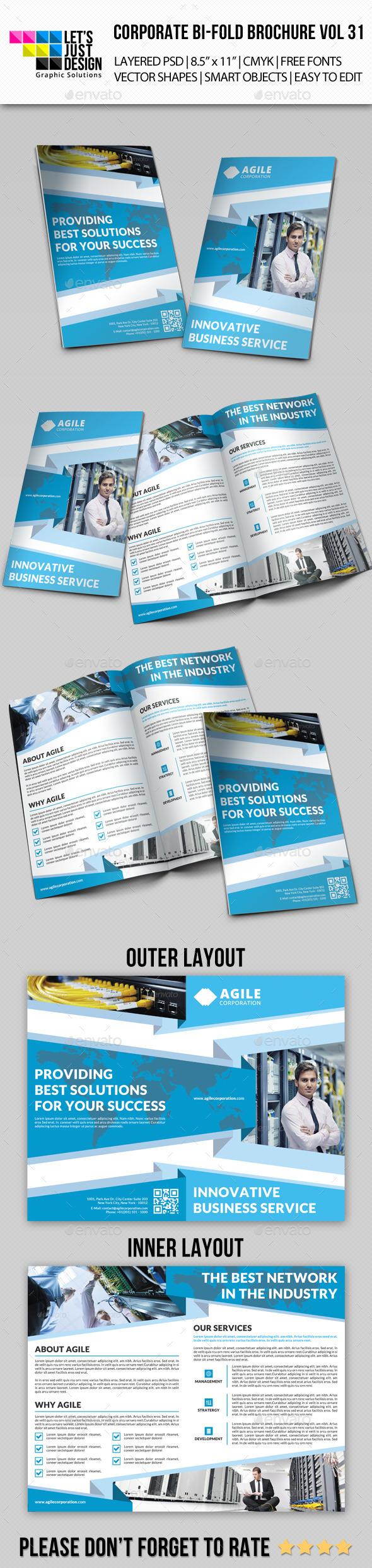 GraphicRiver Creative Corporate Bi-Fold Brochure Vol 31 10172936