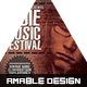 Indie Music Festival CD Cover - GraphicRiver Item for Sale