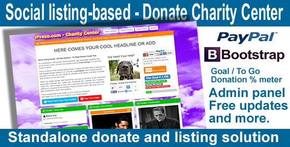 Social listing-based Donate Charity Center