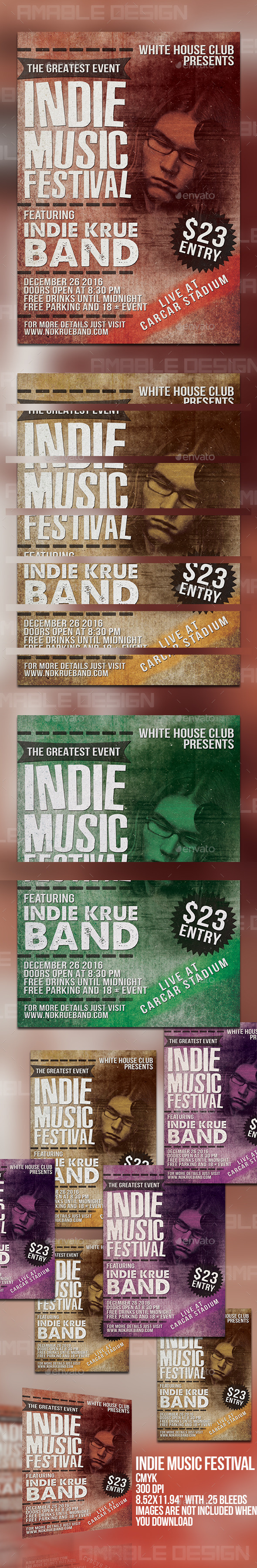 GraphicRiver Indie Music Festival Flyer 10173180