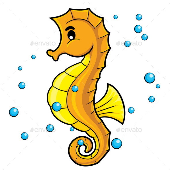 GraphicRiver Sea Horse Cartoon 10173188