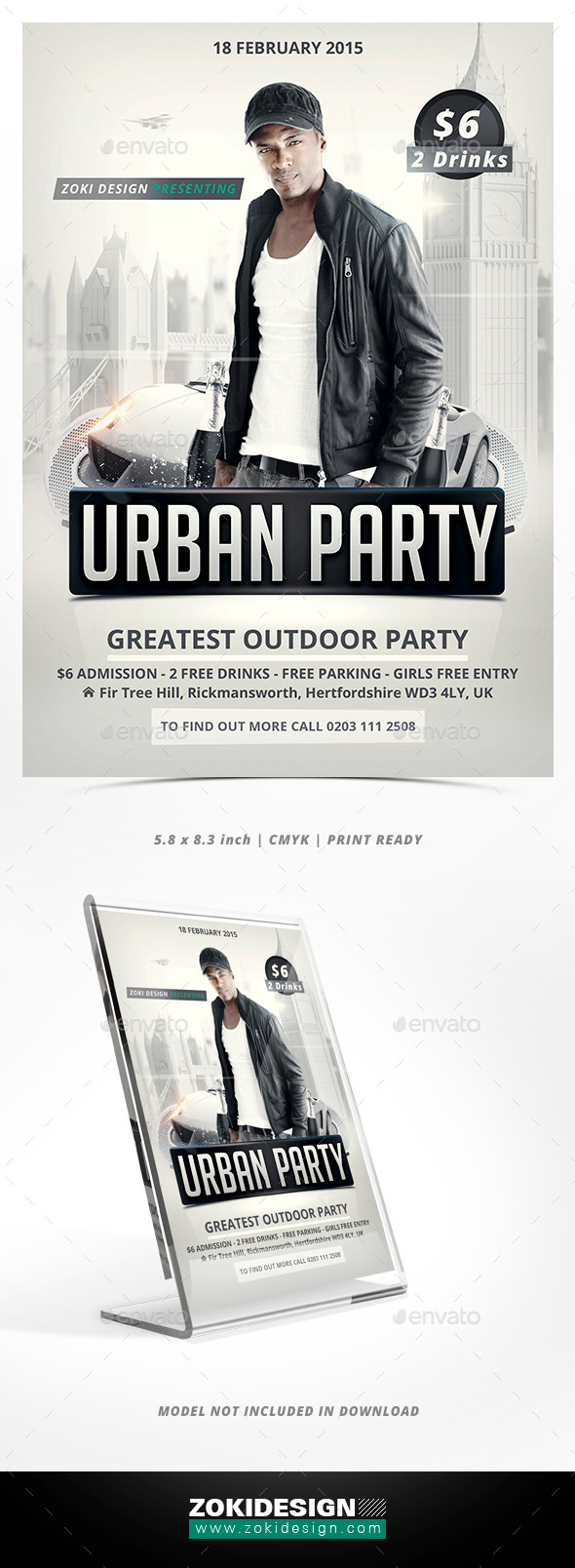 GraphicRiver Urban Party Flyer 10126545