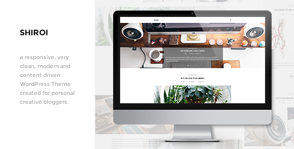 Shiroi Clean Personal WordPress Blogging Theme