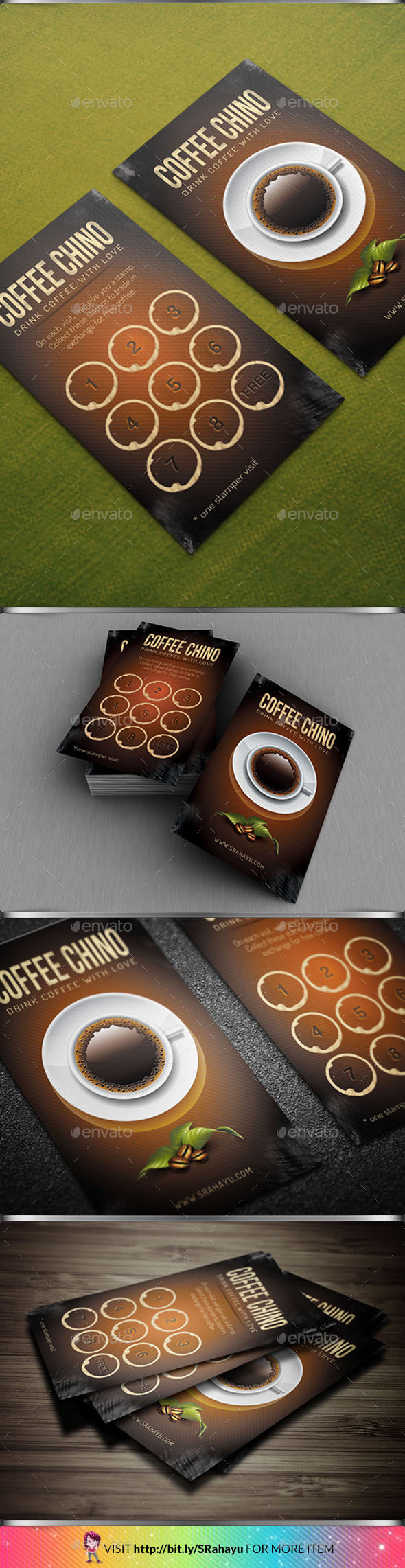 GraphicRiver Brown Coffee Loyalty Card 10131916