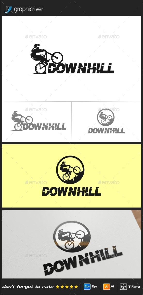 GraphicRiver Downhill Logo Templates 10173621