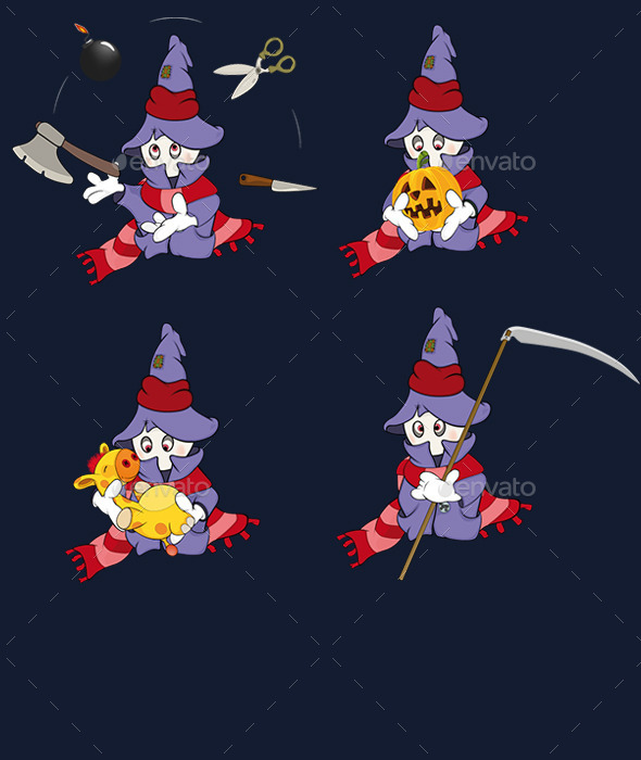 GraphicRiver Set of Ghosts Cartoons 10173780