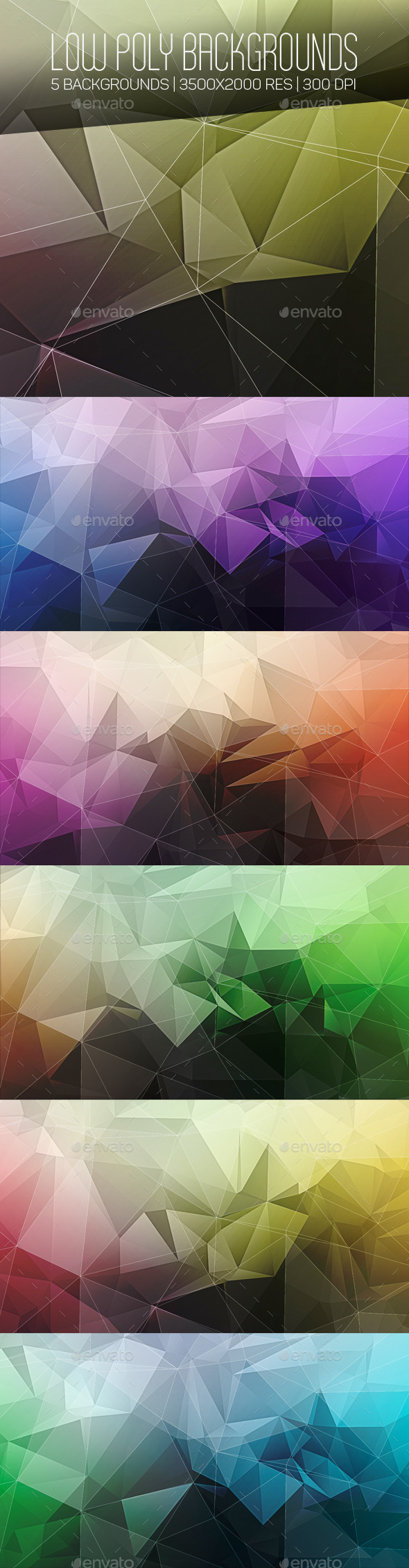 GraphicRiver Low Poly Backgrounds 10173812