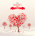 Valentine background with heart shaped trees.  - PhotoDune Item for Sale