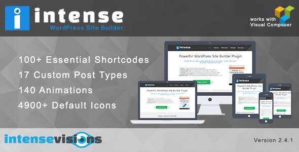 CodeCanyon - Intense v2 4 1 - Shortcodes and Site Builder for
