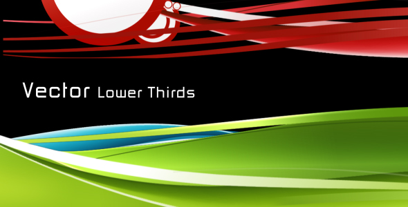 VideoHive VECTOR Lower Thirds 128479