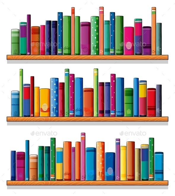 GraphicRiver Wooden Shelves with Books 10174627
