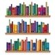 Wooden Shelves with Books - GraphicRiver Item for Sale