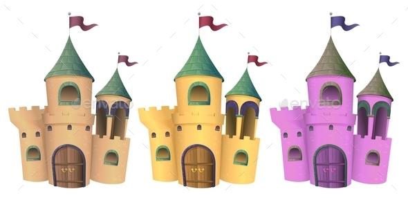 GraphicRiver Three Castles 10175071