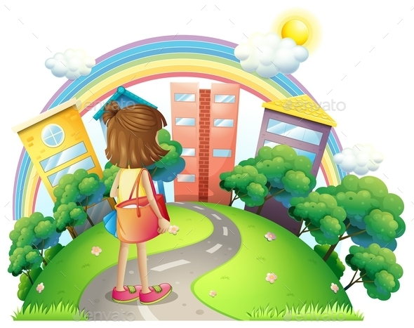 GraphicRiver Girl Going to the Office 10175099