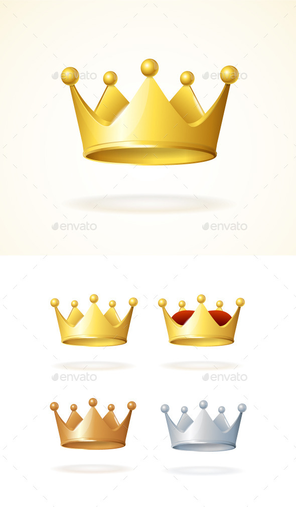 GraphicRiver Set of Royal Crowns 10175111