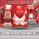 Electronic Valentines Flyer Template Bundle Vol. 1 - GraphicRiver Item for Sale